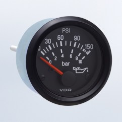 Vdo Electric Oil Pressure Gauge Wiring Diagram Power Inverter Cockpit International 150 Psi 10 Bar Use With Sender 12v M4 Stud Connection By Series