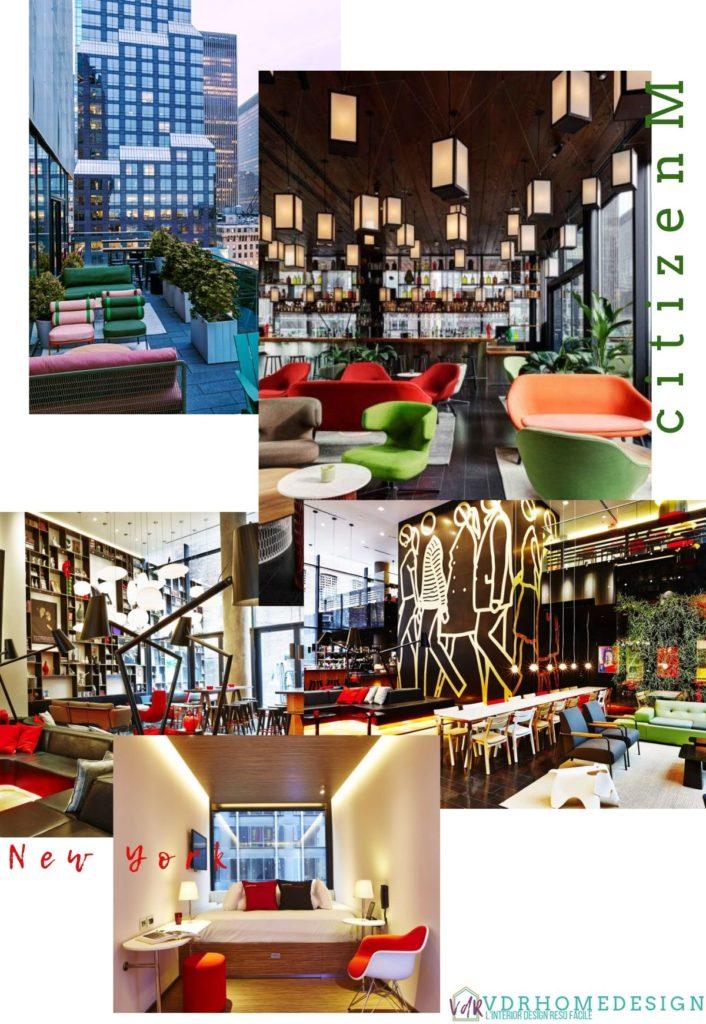 hotel citizenM a New York esterno e lounge