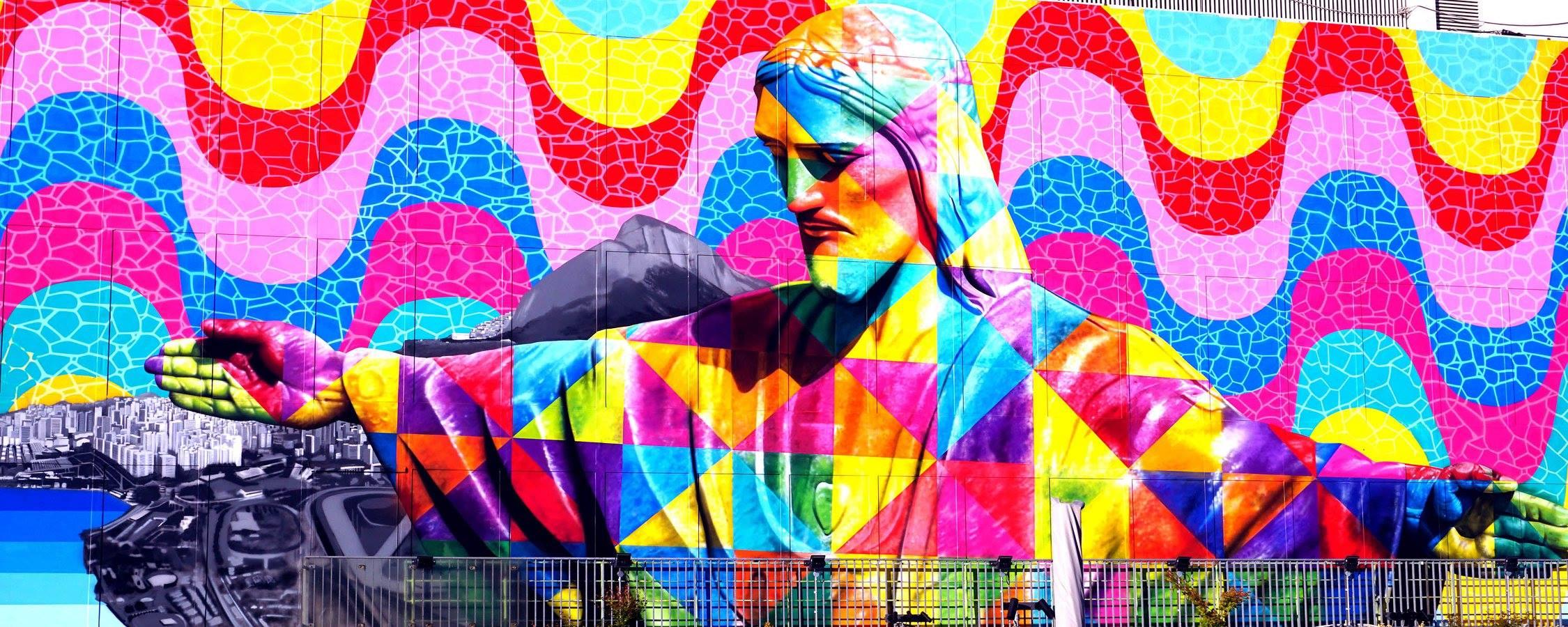 How To Paint A Mural On A Wall Eduardo Kobra Un Murales Per Salvarci Tutti Vhd