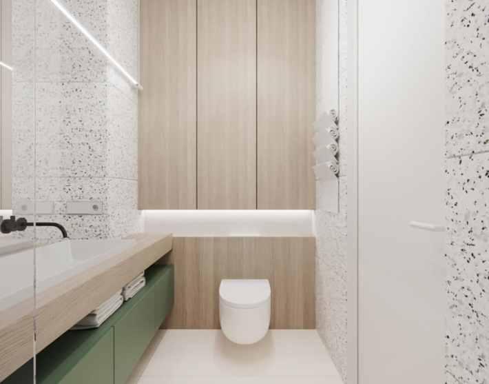 micro-casa, velluto e marmo sono i protagonisti