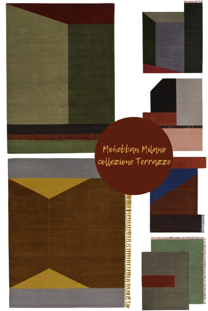 Salone del Mobile di Milano 2019 collezione di tappeti Terrazze di Mohebban Milano