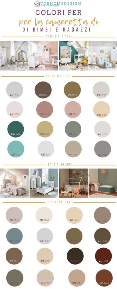 schemi di colore per la cameretta dei bimbi