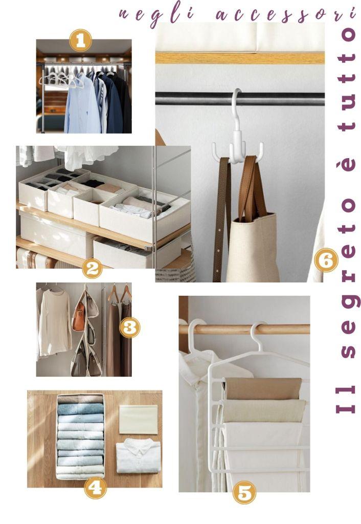 idee per organizzare l'armadio con i giusti prodotti