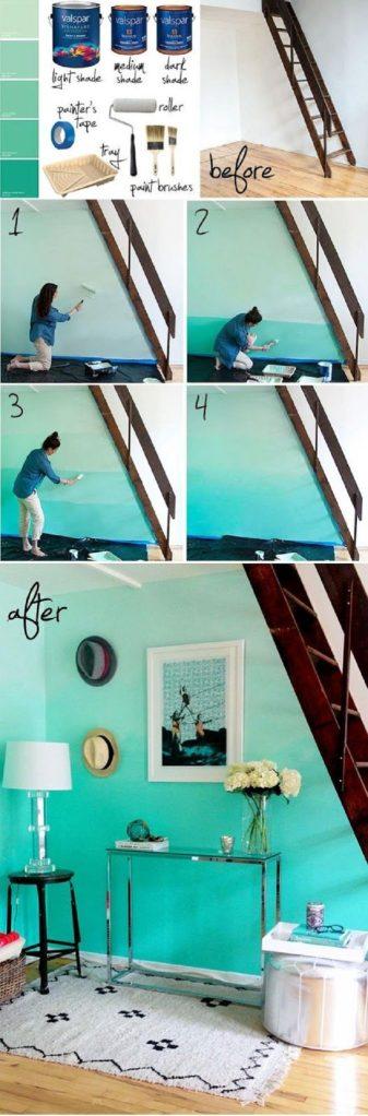 tutorial passo passo su come realizzare le pareti sfumate