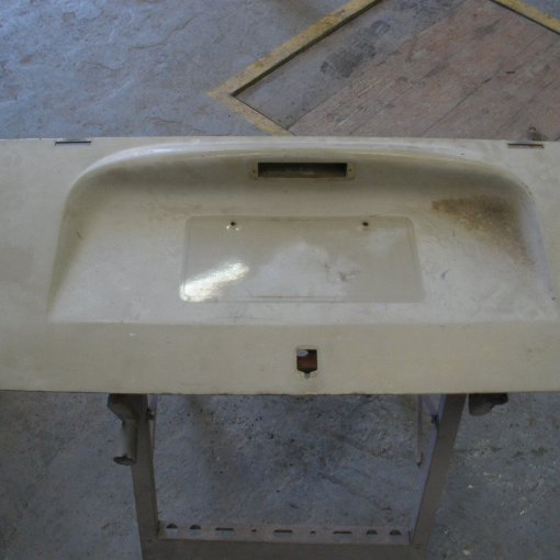 Good straight engine lid ready to get prepped before painting