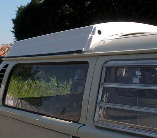 Trial fitting the rear section of the Westfalia roof top
