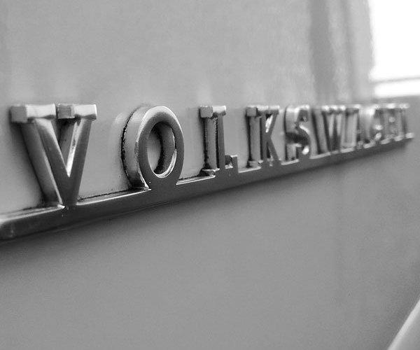 VW Early Bay script logo