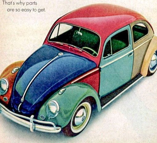 A VW Beetle – that's why parts are so easy to get…