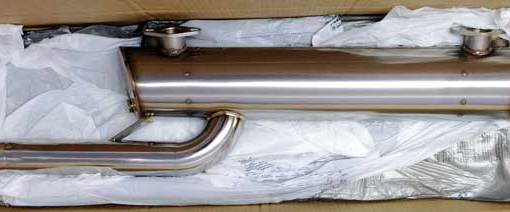 Superb quality Vintage Speed 1960–1967 Bus Sport muffler, Standard Tail Pipe for engines up to 125 HP