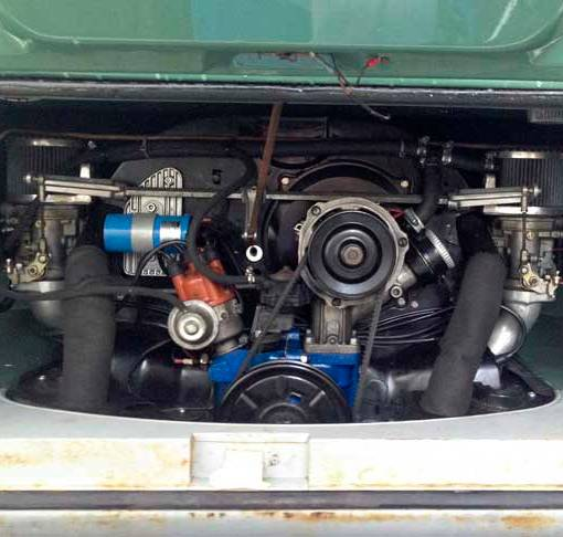 new fairly stock 1600cc engine with twin carbs