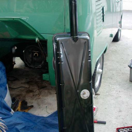 original 1955 to 1967 VW split screen fuel tank painted and looking like new!