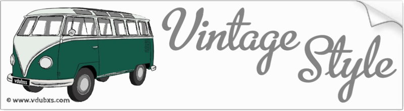The ultimate in vintage style, a deluxe Samba camper van in Velvet Green and Blue White
