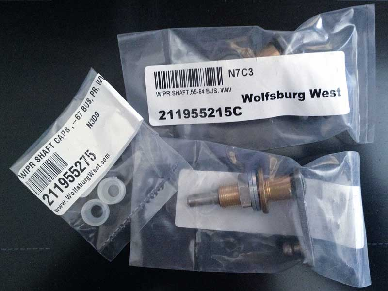 new Wolfsburg West wiper shafts and spindle caps