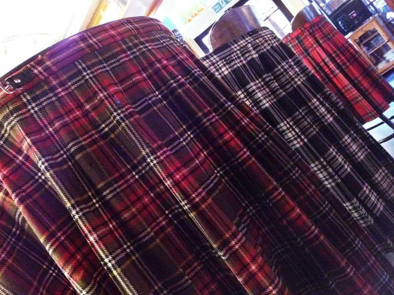 Tartan backed bar chairs at Ben More Lodge