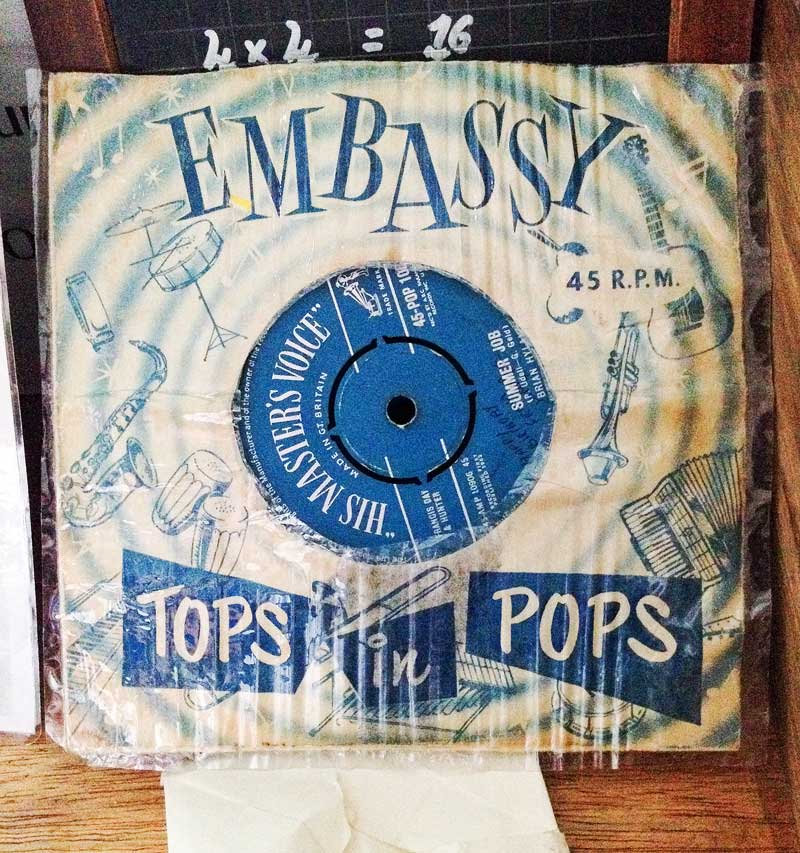 "before the days of mp3's, the vintage 45 rpm 6"" single"