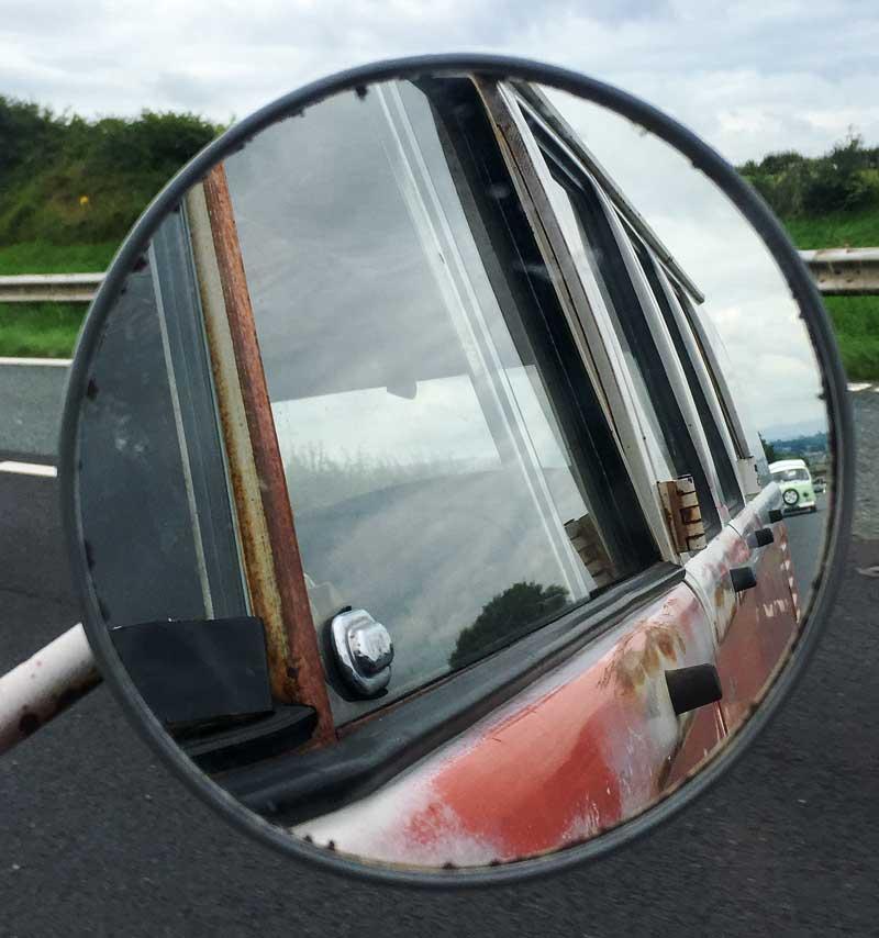 looks like we've got a little vintage VW convoy for company…
