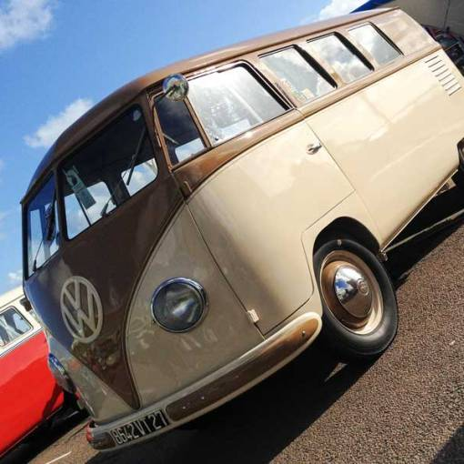 beautiful Barndoor bus with Westfalia Mosaik interior… simply stunning!