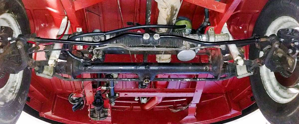 custom power steering rack upgrade for a vintage VW bus