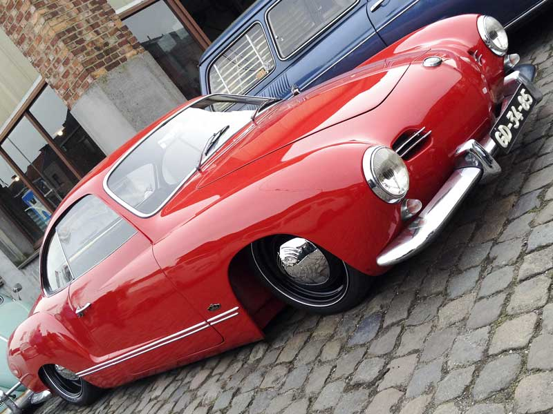 super low Karmann Ghia with lots of attitude