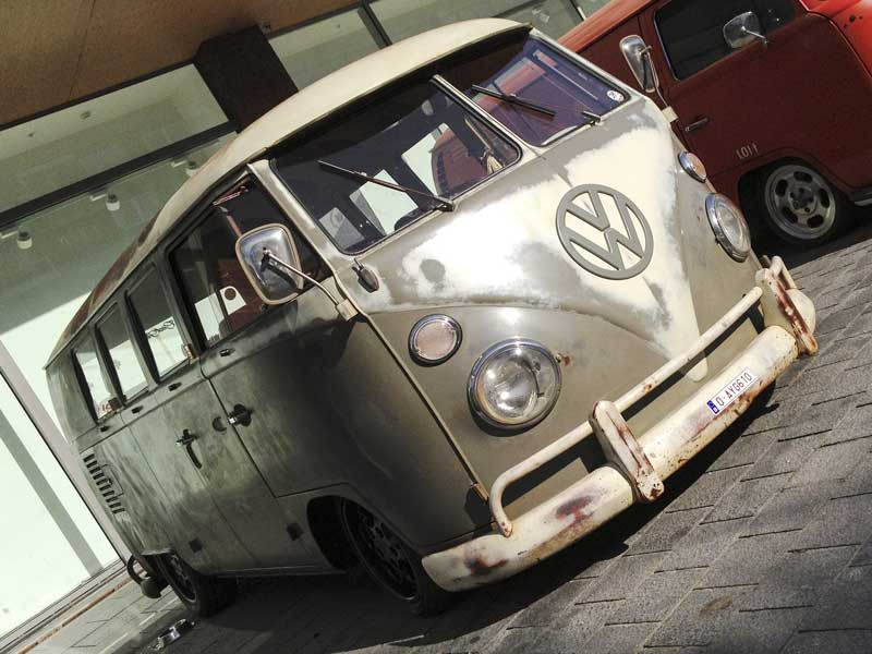 beautiful mouse grey survivor bus