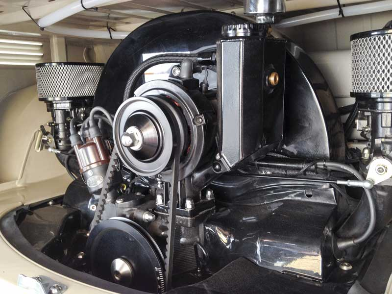 the attention to detail equally applied to the classic flat four engine