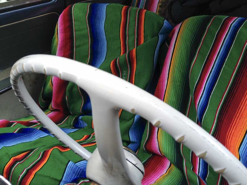 full effect Mexican blanket style interior