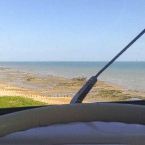 enjoying the view… not all work has to be done in a garage