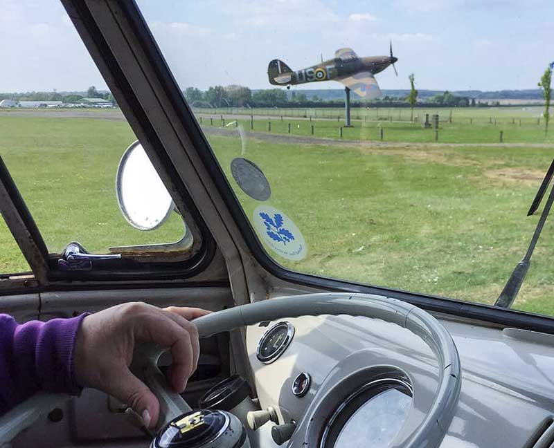 you don't often see a Spitfire when you're driving along