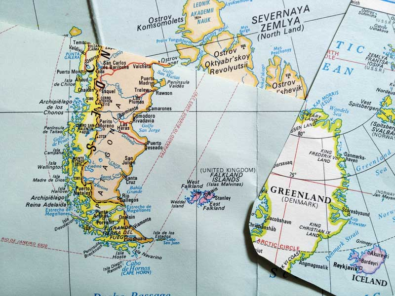 cartographic cut up time as a vintage map gets a new life