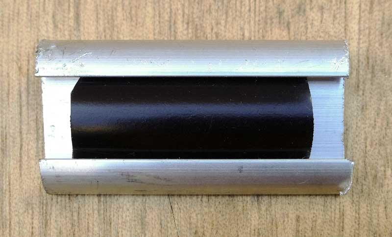 Devon style aluminium edge trim and insert from Camper Interiors