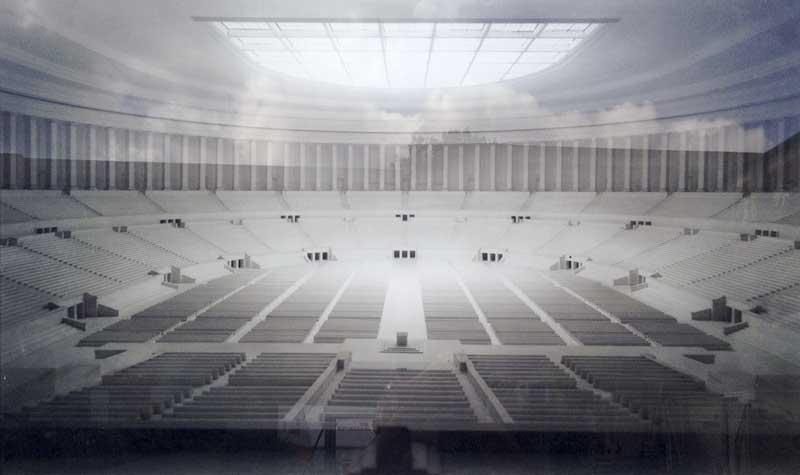 model of the 1937 Nuremberg congress hall interior