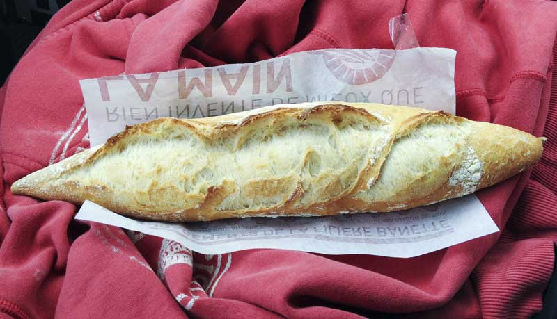 hmmm… French baguette, fresh from the bakery