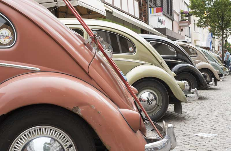 a beautiful vintage automotive colour palette on display