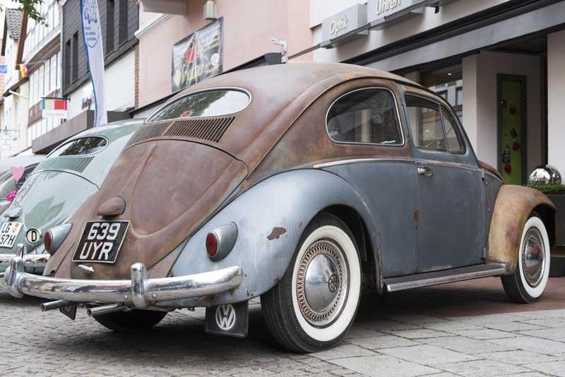 my friend Caroline's beautifully brought back to life 1955 survivor Oval Beetle 'Fonzie'