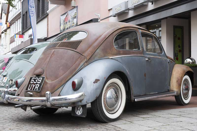 my friend Caroline's beautifully brought back to life 1955 survivor Oval Beetle 'Fonzie'