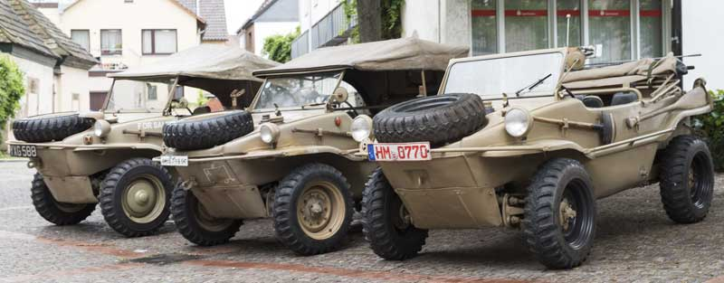 Schwimmwagen parking starts here… or at the river