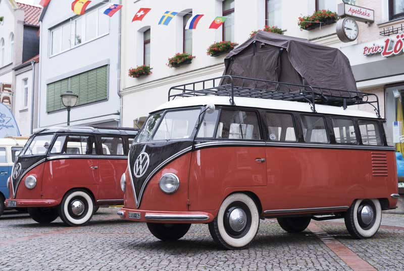 15 window Barndoor bus with cool roof tent for family sleeping