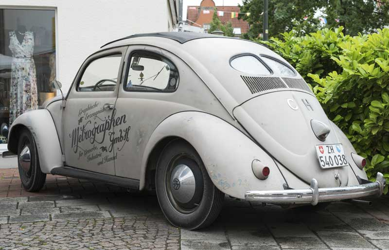split window ragtop bug with sign writing… what's not to like?