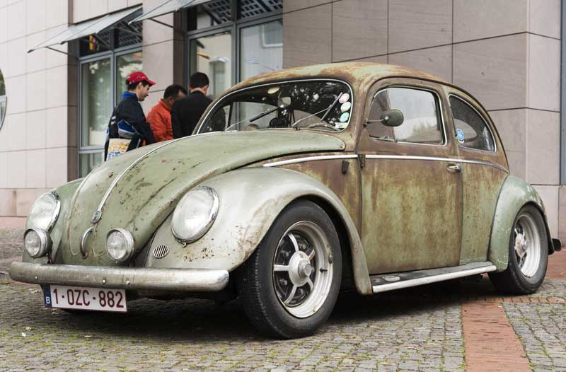 tough looking patina paint survivor Beetle