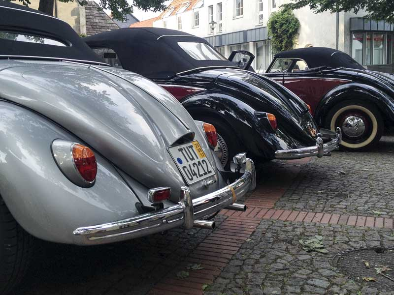 rare Volkswagen Type 14A Hebmüller Cabriolet parking only