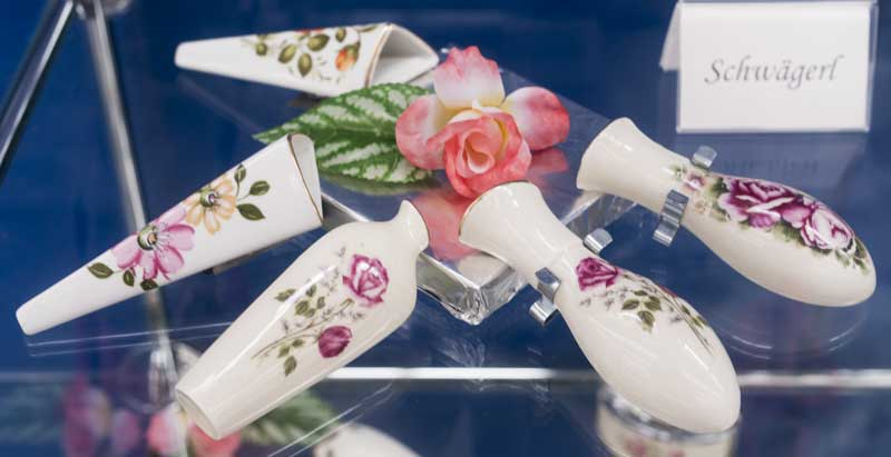 a selection of Porcelain Bud Vases for vintage VW Beetles
