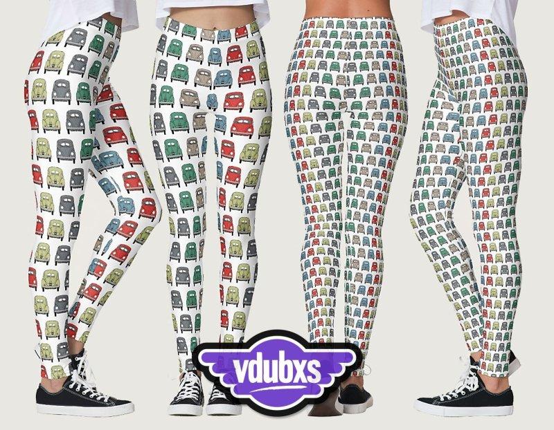 cool classic bug pattern vintage inspired leggings