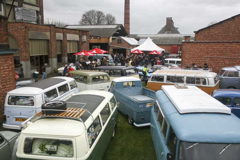 Aircooled rides from all over mainland Europe and the UK gather at the Brewery Slaghmuylder in Ninove