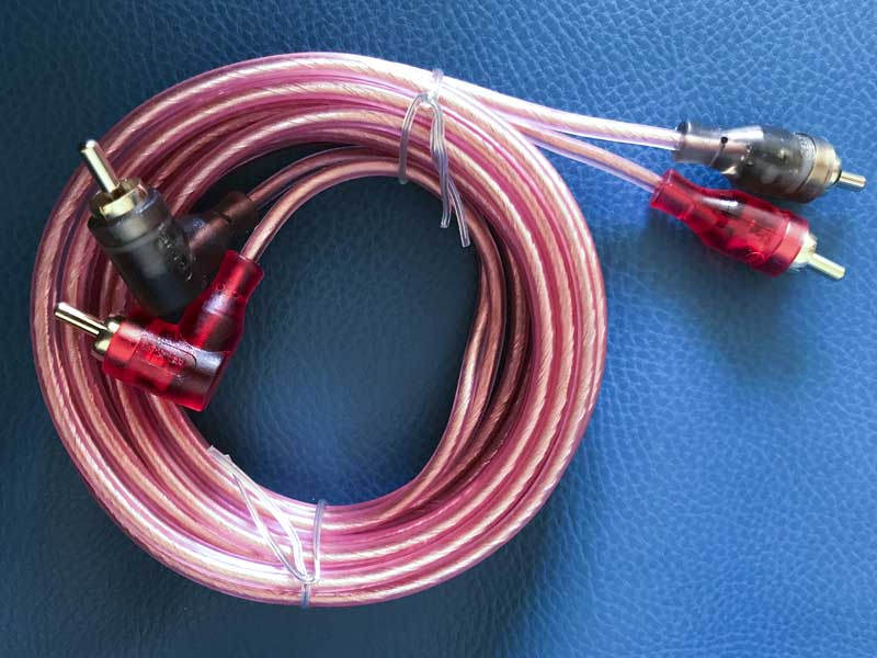 new RCA cable to take the dedicated pre-out signal to the front component speakers
