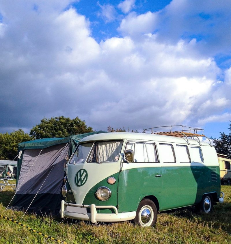 Just Kampers (I believe) retro style, 4 berth drive away awning for sale