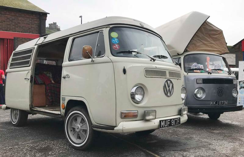 very early (1968) bay westfalia pop top camper
