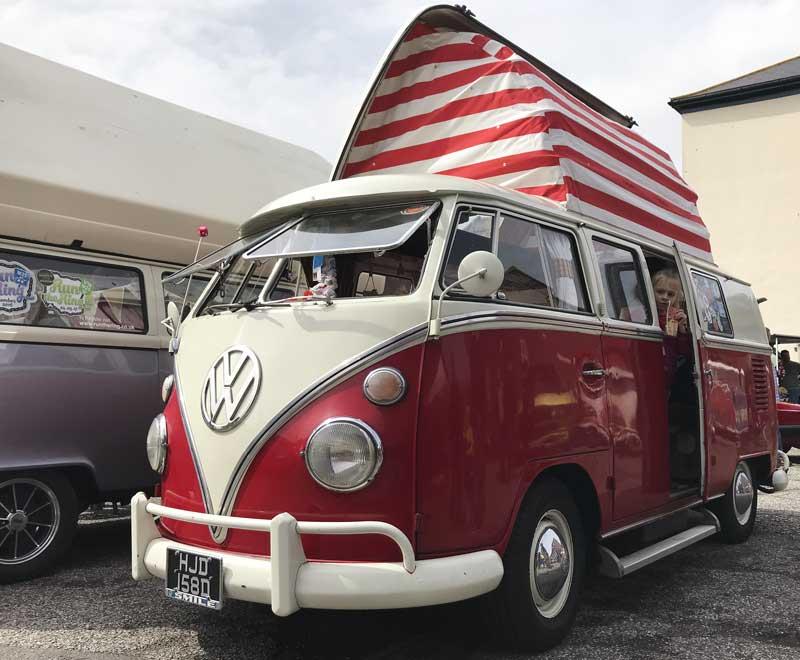 nice Dormobile split screen pop top camper