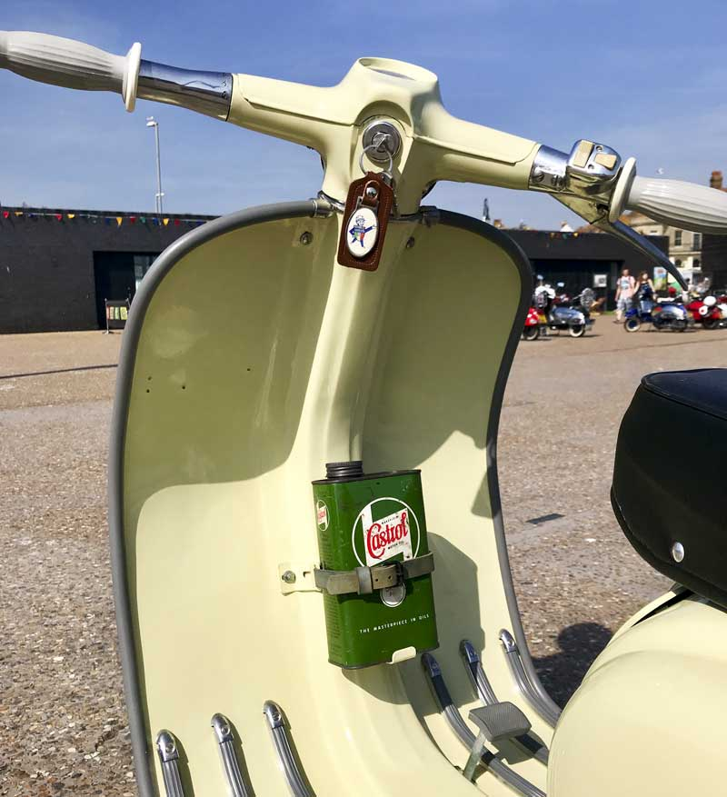 love the detail of the vintage Castrol vintage oil can