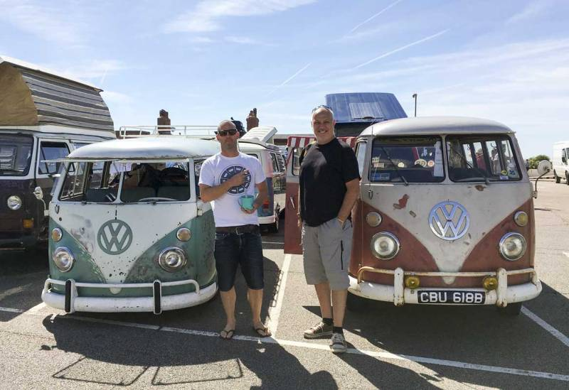 its a big thumbs up from the bus buddies on a fun first show at the De La Warr Pavilion