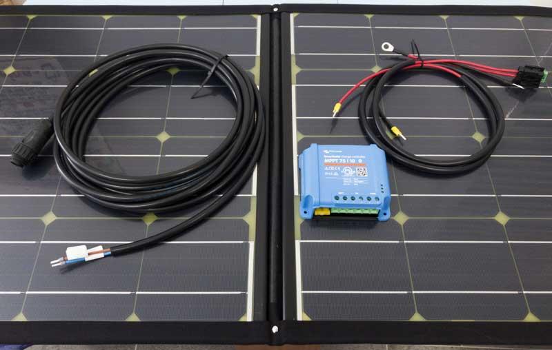 SolarSwiss 100w high performance/efficiency foldable solar power system